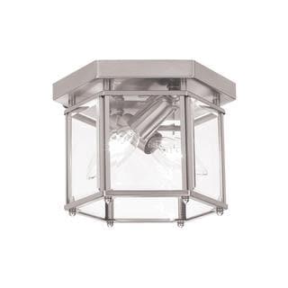 Sea Gull Bretton 2 Light Brushed Nickel Ceiling Fixture
