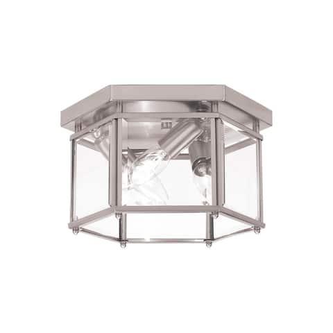 Sea Gull Bretton 3 Light Brushed Nickel Ceiling Fixture