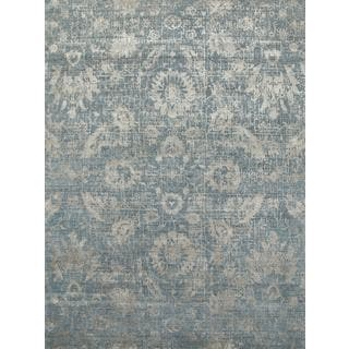 Hand Knotted Blue Mirage/Shale Contemporary Pattern Rug (12' X 15')