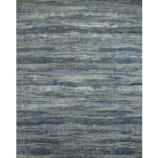 Hand Knotted Chicory/Skyline Blue Contemporary Pattern Rug (12' X 15')