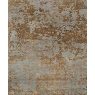 Hand Knotted Ashwood/Honey Contemporary Pattern Rug (12' X 15')