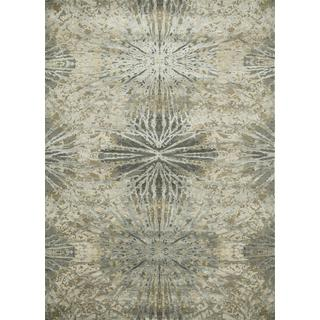 Hand Knotted Antique White/Ashwood Contemporary Pattern Rug (12' X 15')