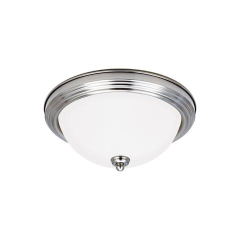 Sea Gull Ceiling Flush Mount 3 Light Brushed Nickel Ceiling Fixture