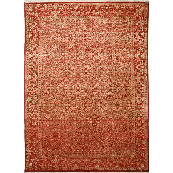 Hand Knotted Chili Pepper Transitional Classic Pattern Rug (14'9 X 16'6)