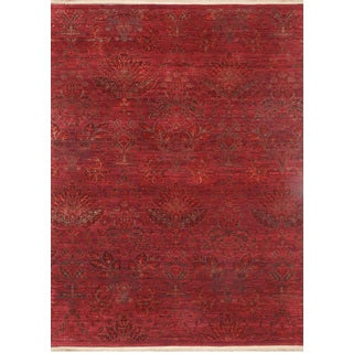 Hand Knotted Boysenberry Transitional Pattern Rug (13'2 X 19'8)