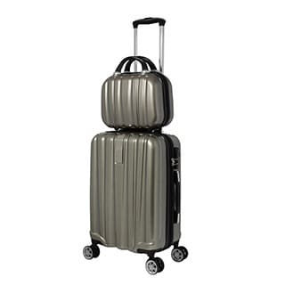 World Traveler Monaco 2-Piece Expandable Carry On Spinner Luggage Set