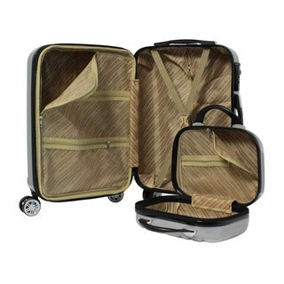 World Traveler Monaco 2-Piece Expandable Carry On Spinner Luggage Set