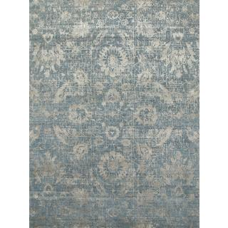 Hand Knotted Blue Mirage/Shale Contemporary Pattern Rug (10' X 14')