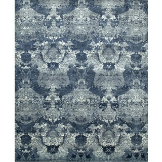Hand Knotted Chicory/Skyline Blue Contemporary Pattern Rug (10' X 14')