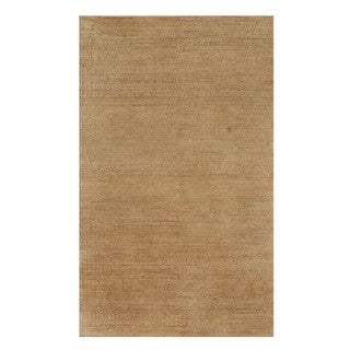 Hand Knotted Tan Modern Solids & Heather Pattern Rug (10' X 14')