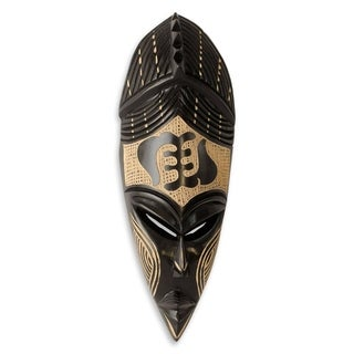 Gye Nyame II African Wood Mask (West Africa)