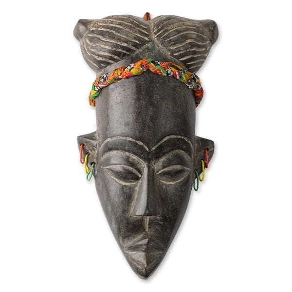 Lovely Lady of Ghana African Mask (West Africa)