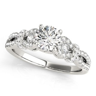 Transcendent Brilliance Split Shank Ribbon Unique Diamond Engagement Ring 0.90 Ctw.