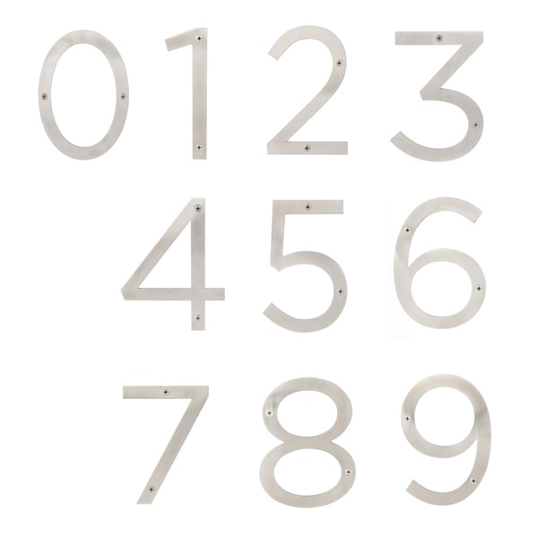 """Sure-Loc Stainless-steel House Numbers - 6""""H"""
