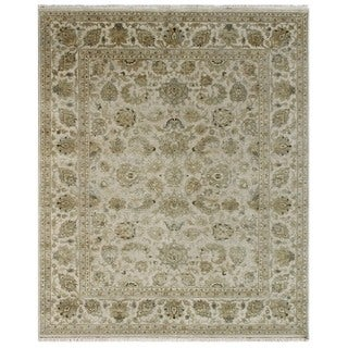 Hand Knotted Antique White Classic Pattern Rug (10' X 13'3)