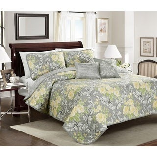 Jolyn Floral 4 or 5-piece Quilt Set
