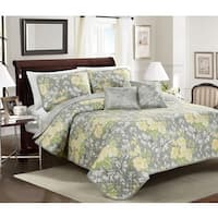 Asher Home Jolyn Floral 4 or 5-piece Quilt Set