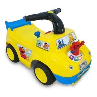 Kiddieland Sesame Street Elmo School Bus Light and Sound Activity Ride-On