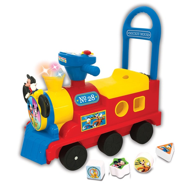 Disney Kiddieland Mickey Mouse Clubhouse Play Nu0026#x27; Sort Ride On Activity  Train