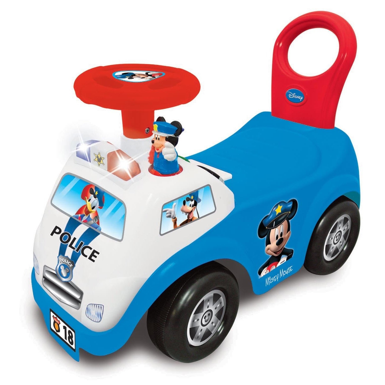 Kiddieland My First Mickey' Multicolored Police Car Light...
