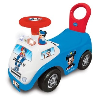 Kiddieland 'My First Mickey' Multicolored Police Car Light and Sound Activity Ride-On Toy