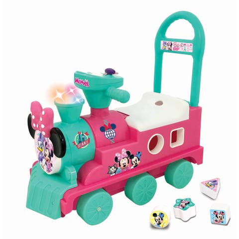 Kiddieland Disney Minnie Mouse Play n' Sort Activity Ride-on Train