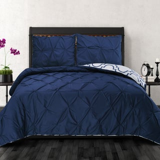 Superior Valencia Blue Premium Cotton Reversible Duvet Cover Set