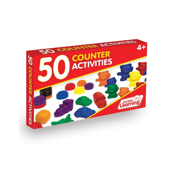 Junior Learning 50 Counter Activities Multicolor Plastic Learning Set