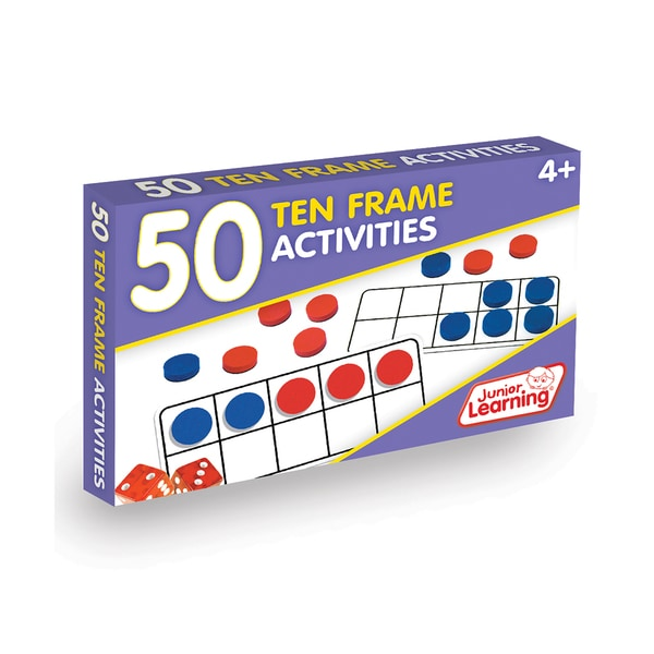 Junior Learning 50 Ten Frame Activities Plastic Learning Set