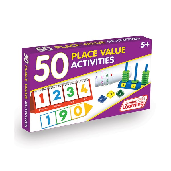 Junior Learning 50 Place Value Activities Plastic Learning Set