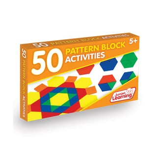 Junior Learning 50 Pattern Block Activities Multicolor Plastic Learning Set