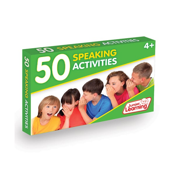 Junior Learning 50 Speaking Activities Plastic Learning Set