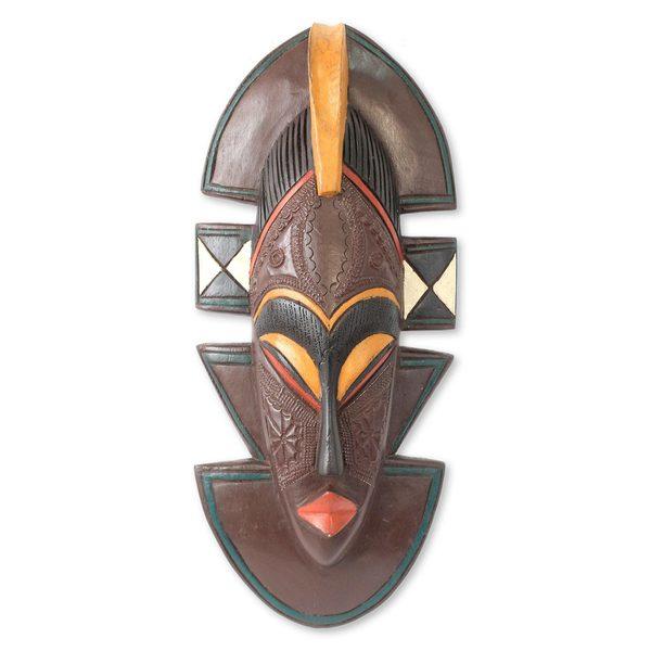 Kekewa African Wood Mask (West Africa)