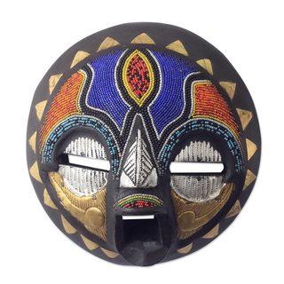 Sadaki African Wood Mask (West Africa)