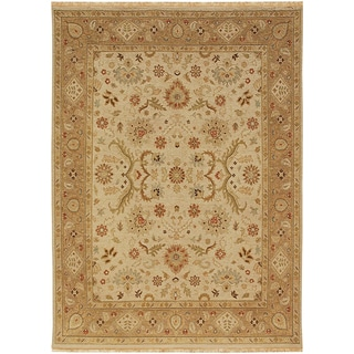Hand Knotted Dark Ivory/Tan Classic Pattern Rug (12' X 18')