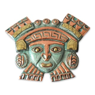 Moche Nobleman Copper and Bronze Mask (Andes)