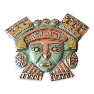 Handmade Moche Nobleman Copper and Bronze Mask (Andes)