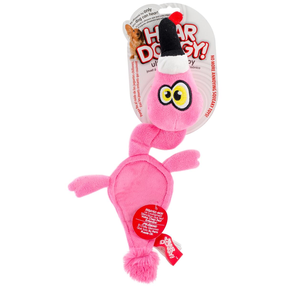 Quaker Hear Doggy Pink Flamingo Flattie (Pink Flamingo), ...