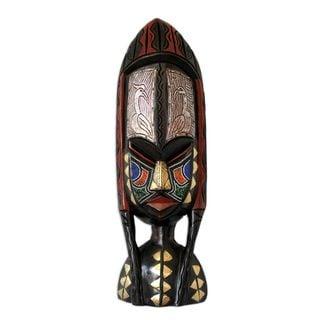 Handmade Amazon Shower of Blessings Wood Mask (Ghana) - multi