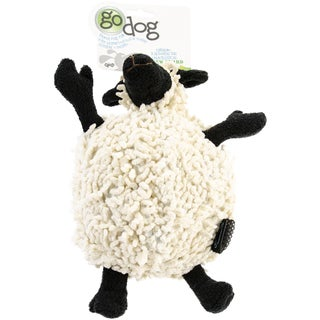 GoDog Fuzzy Wuzzy Sheep With Chew Guard Large