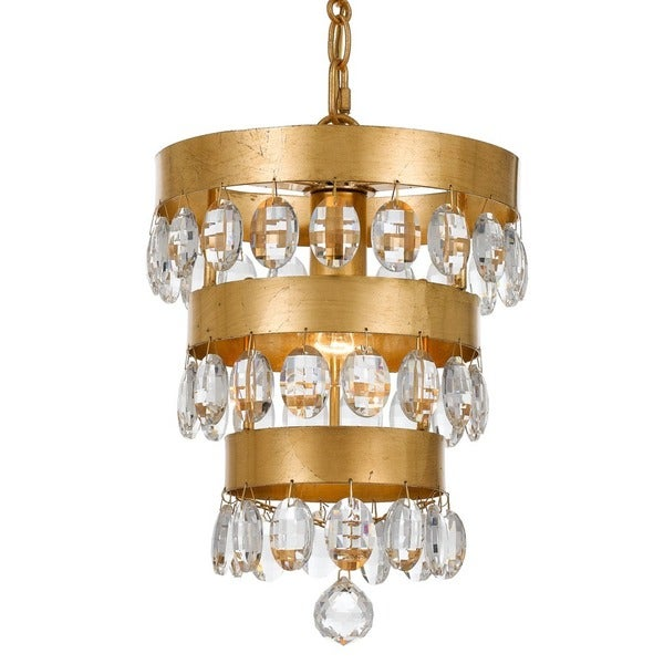 Crystorama perla collection 1 light antique gold mini chandelier crystorama perla collection 1 light antique gold mini chandelier mozeypictures Image collections