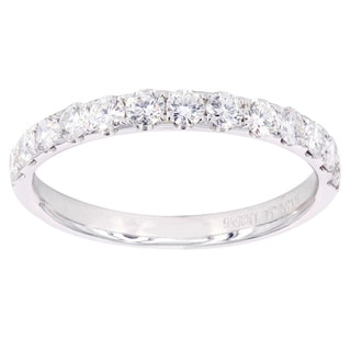 14k White Gold 5/8ct TDW Diamond Wedding Band (H-I, SI1-SI2)