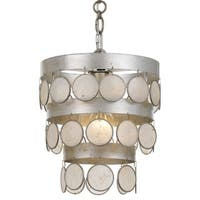 Crystorama Coco Collection 1-light Antique Silver Mini Chandelier