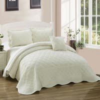 Serenta Supersoft Microplush Quilted 4-piece Bedspread Set