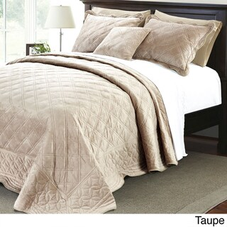 Serenta Supersoft Microplush Quilted 4-piece Bedspread Set