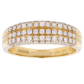 14K Yellow Gold 16/25ct TDW Diamond Band