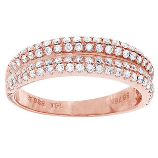 14k Rose Gold 3/5ct TDW Diamond Ring (H-I, I1-I2)