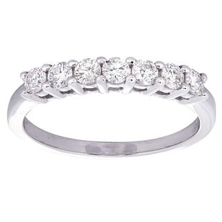 14k White Gold 3/5ct TDW Diamond Wedding Band (H-I, I1-I2)