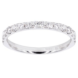 14k White Gold 1/2ct TDW Diamond Wedding Band