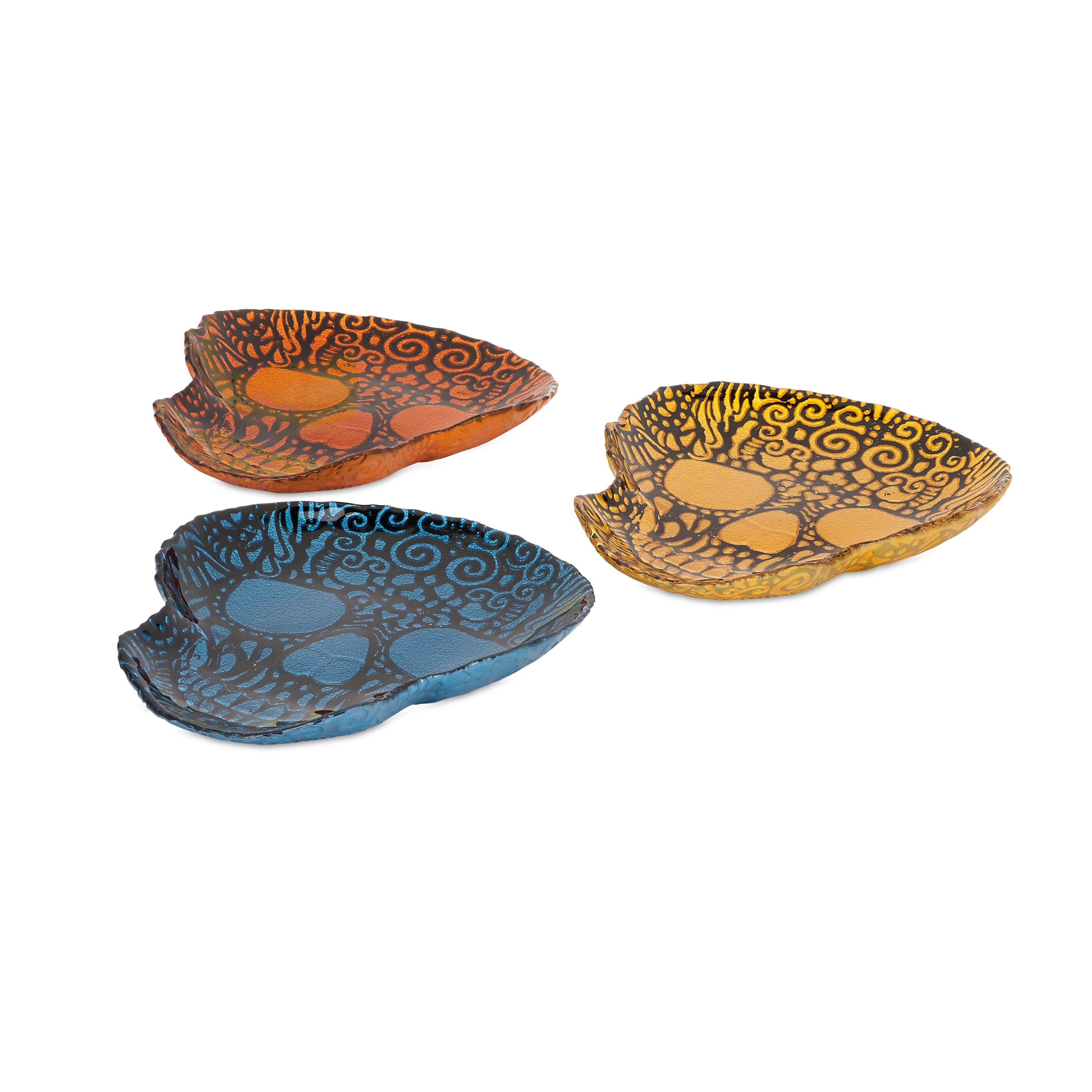 IMAX Merida Glass Dishes - Ast 3 (Chargers/Plates), Multi